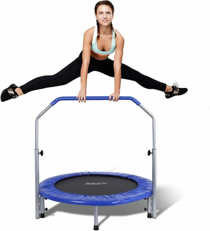 SereneLife Portable and Foldable Min Trampoline
